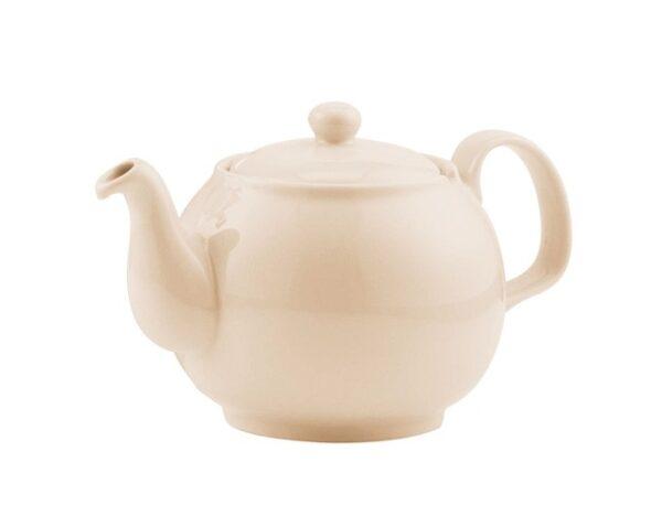 Porzellanteekanne beige ohne Teesieb für 2.5l Modell-0