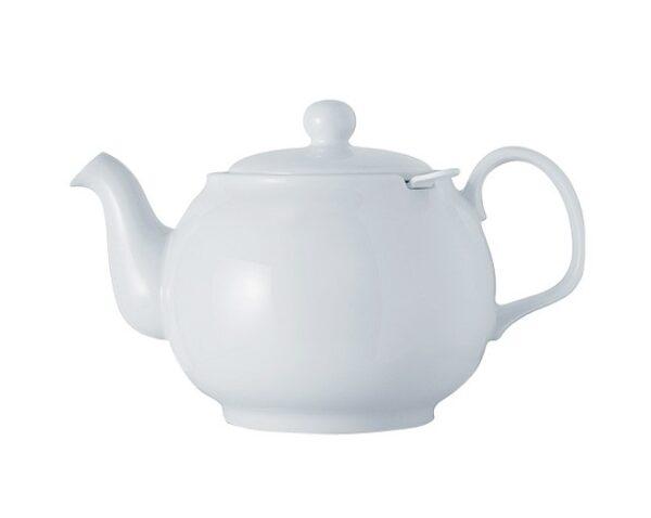 Porzellanteekanne weiss ohne Teesieb für 2.5l Modell-0