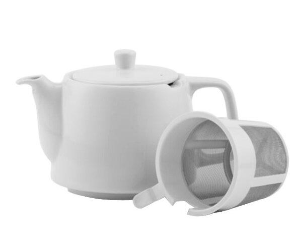 Porzellanteekanne weiss mit Teesieb für 4l Modell-0